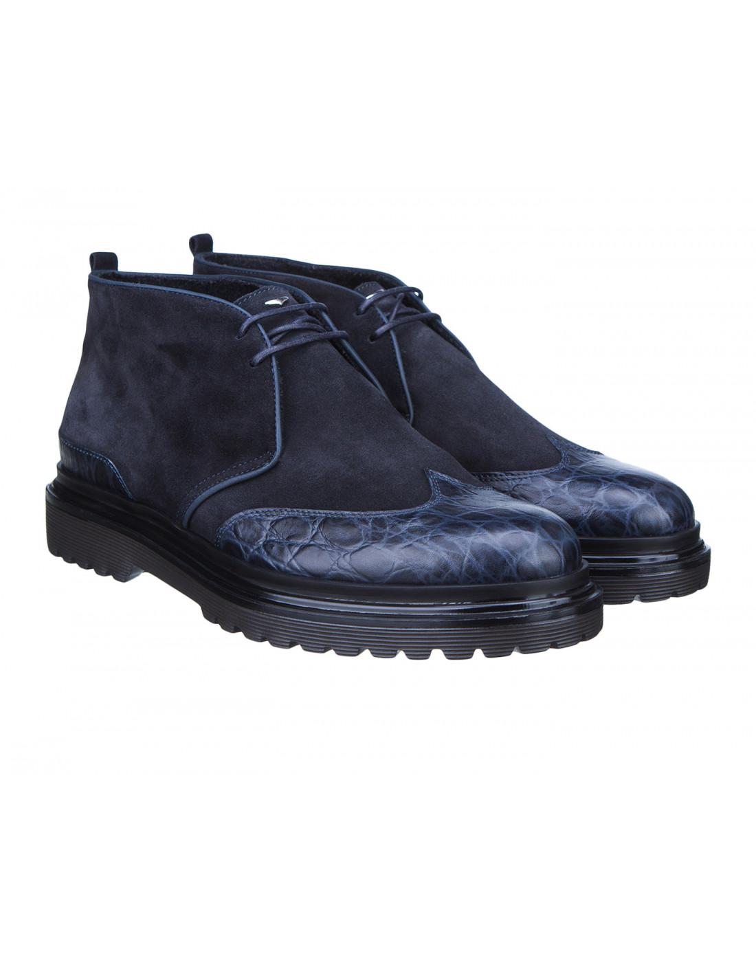 Ботинки синие мужские A.Guardiani S77519-2