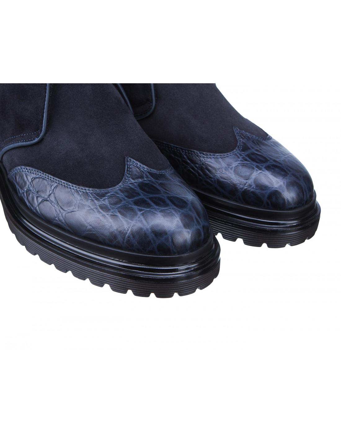 Ботинки синие мужские A.Guardiani S77519-4