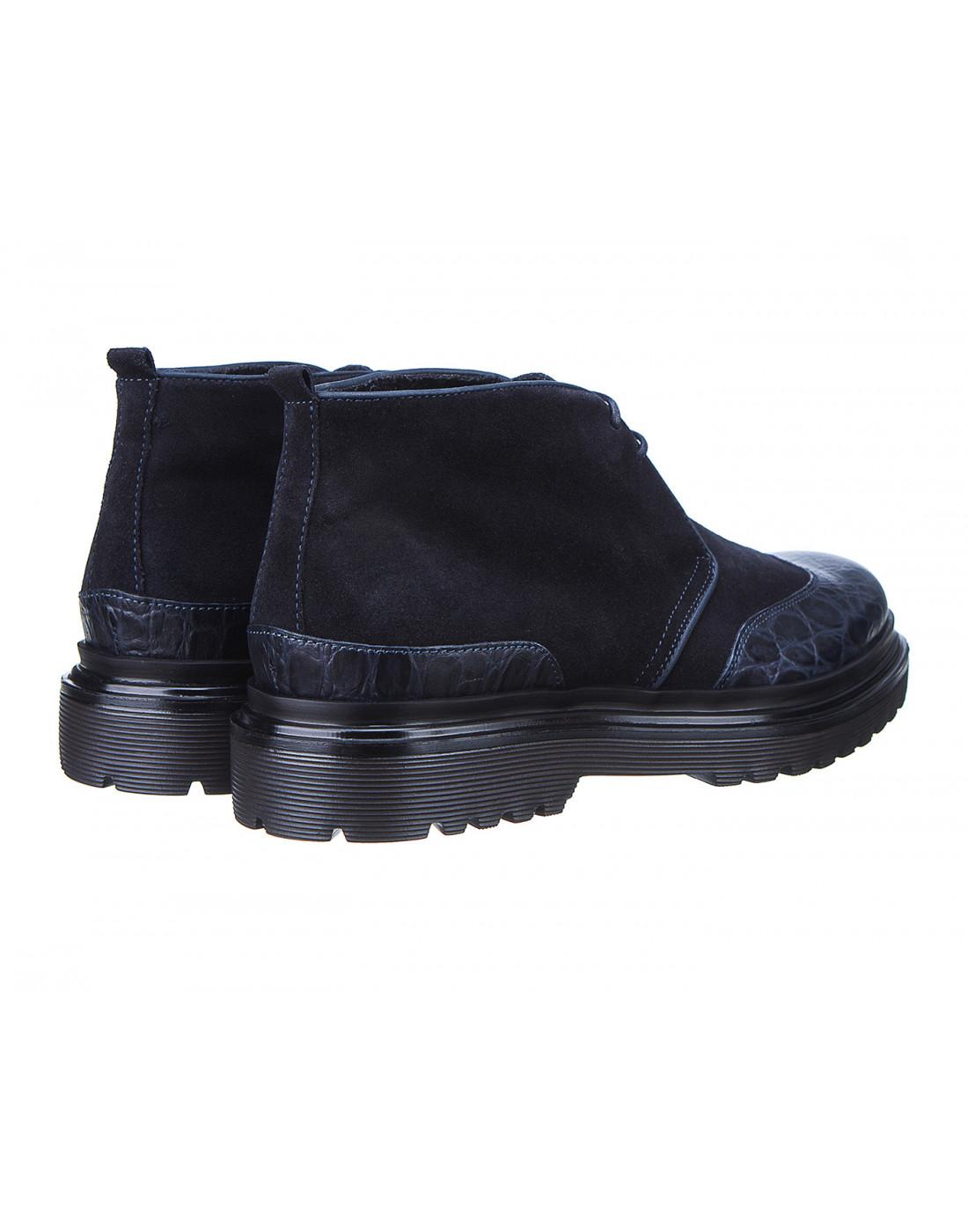 Ботинки синие мужские A.Guardiani S77519-3