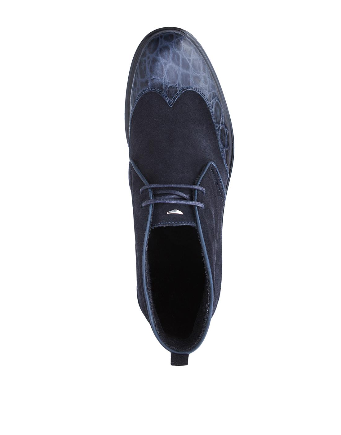 Ботинки синие мужские A.Guardiani S77519-5