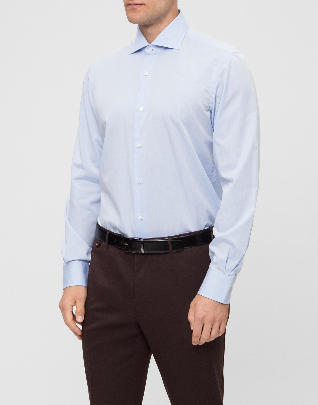Мужская голубая рубашка Barba SD2U634540303U-3
