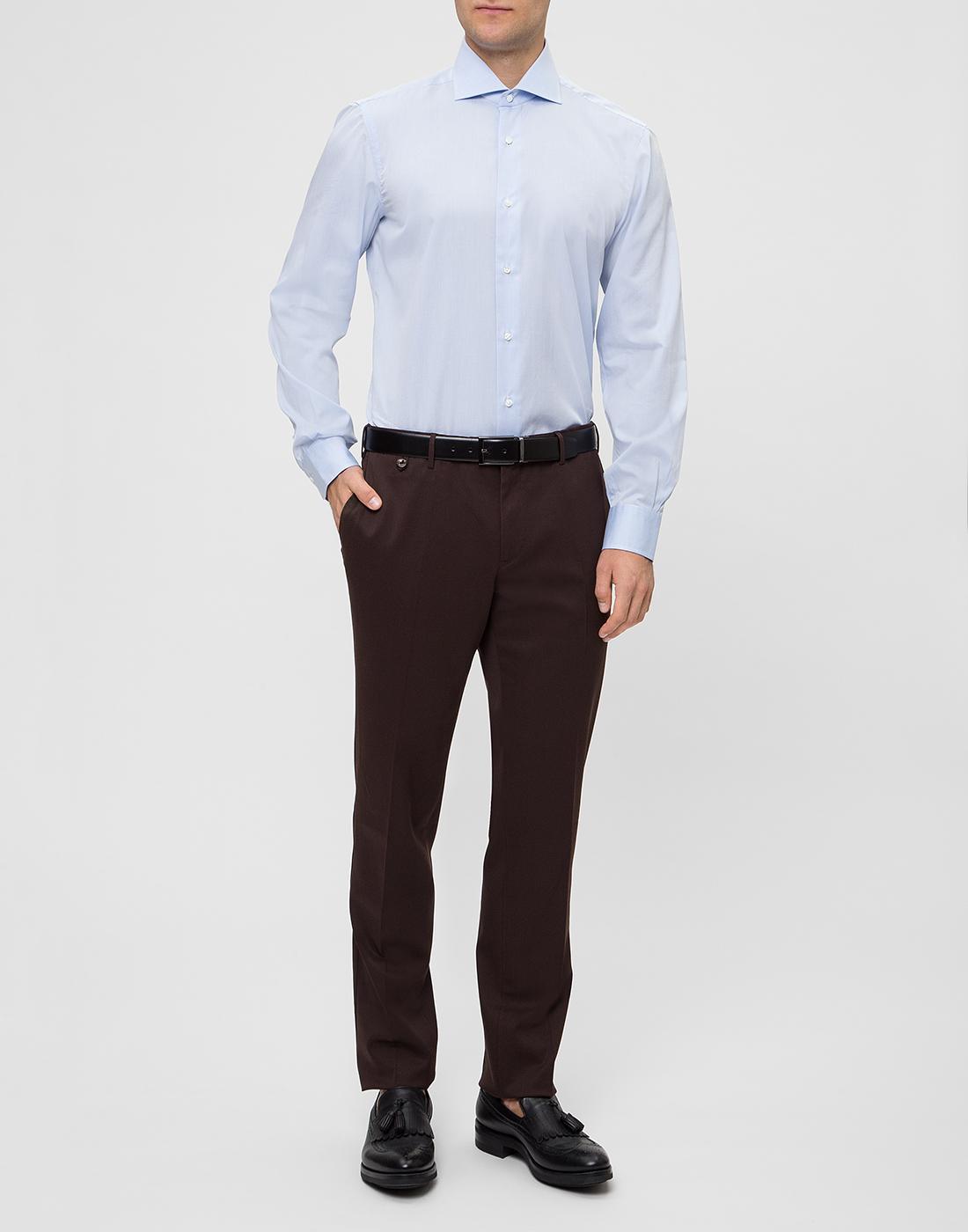 Мужская голубая рубашка Barba SD2U634540303U-5