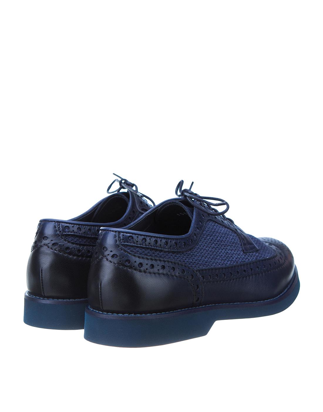 Броги синие мужские  Doucal's SDU1555POTERZ093BB02-3