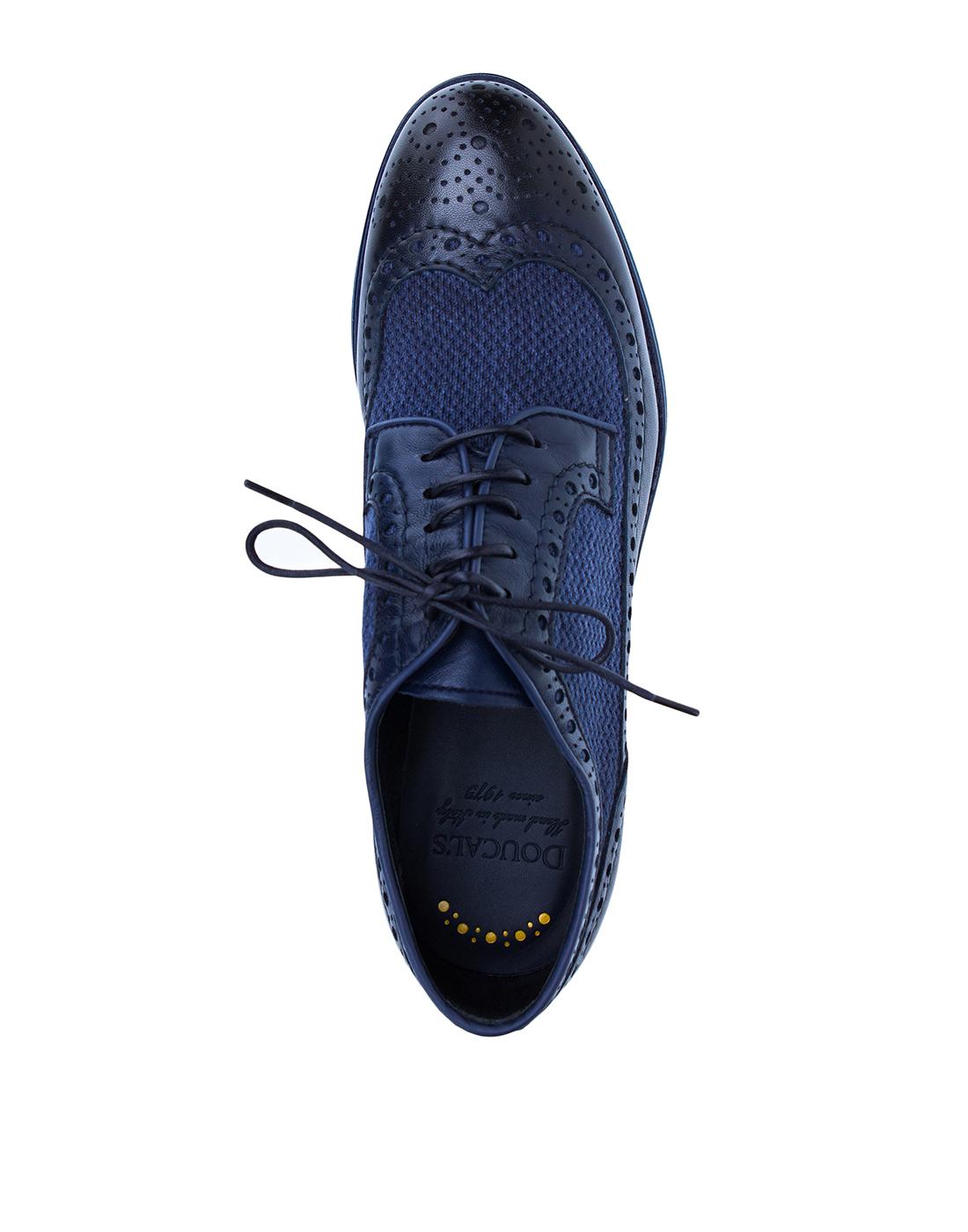 Броги синие мужские  Doucal's SDU1555POTERZ093BB02-5