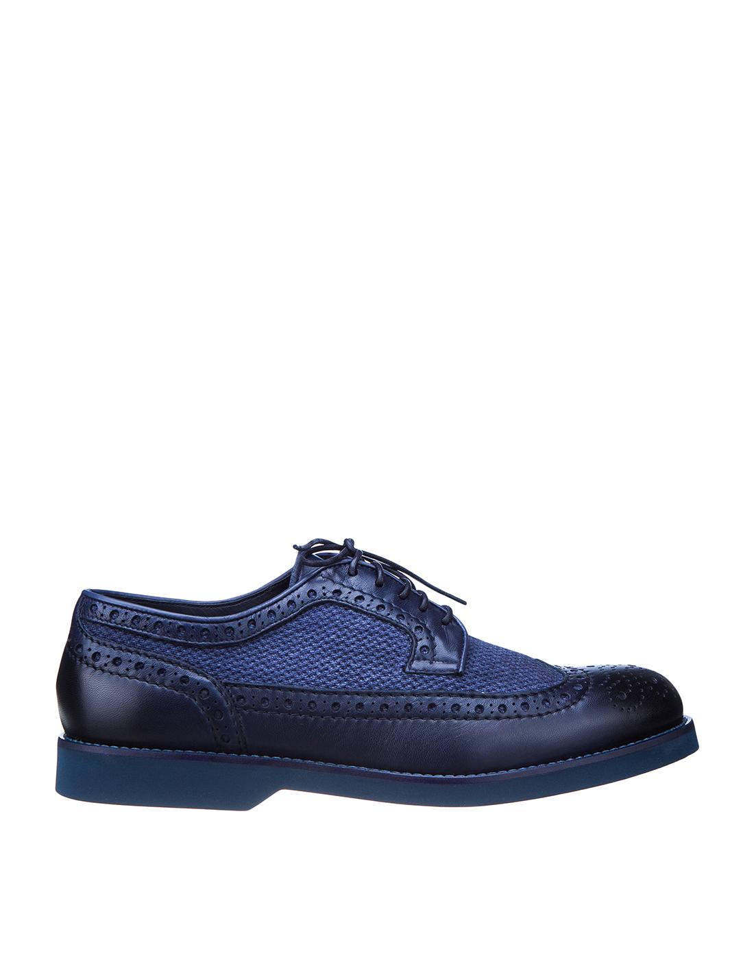 Броги синие мужские  Doucal's SDU1555POTERZ093BB02-1