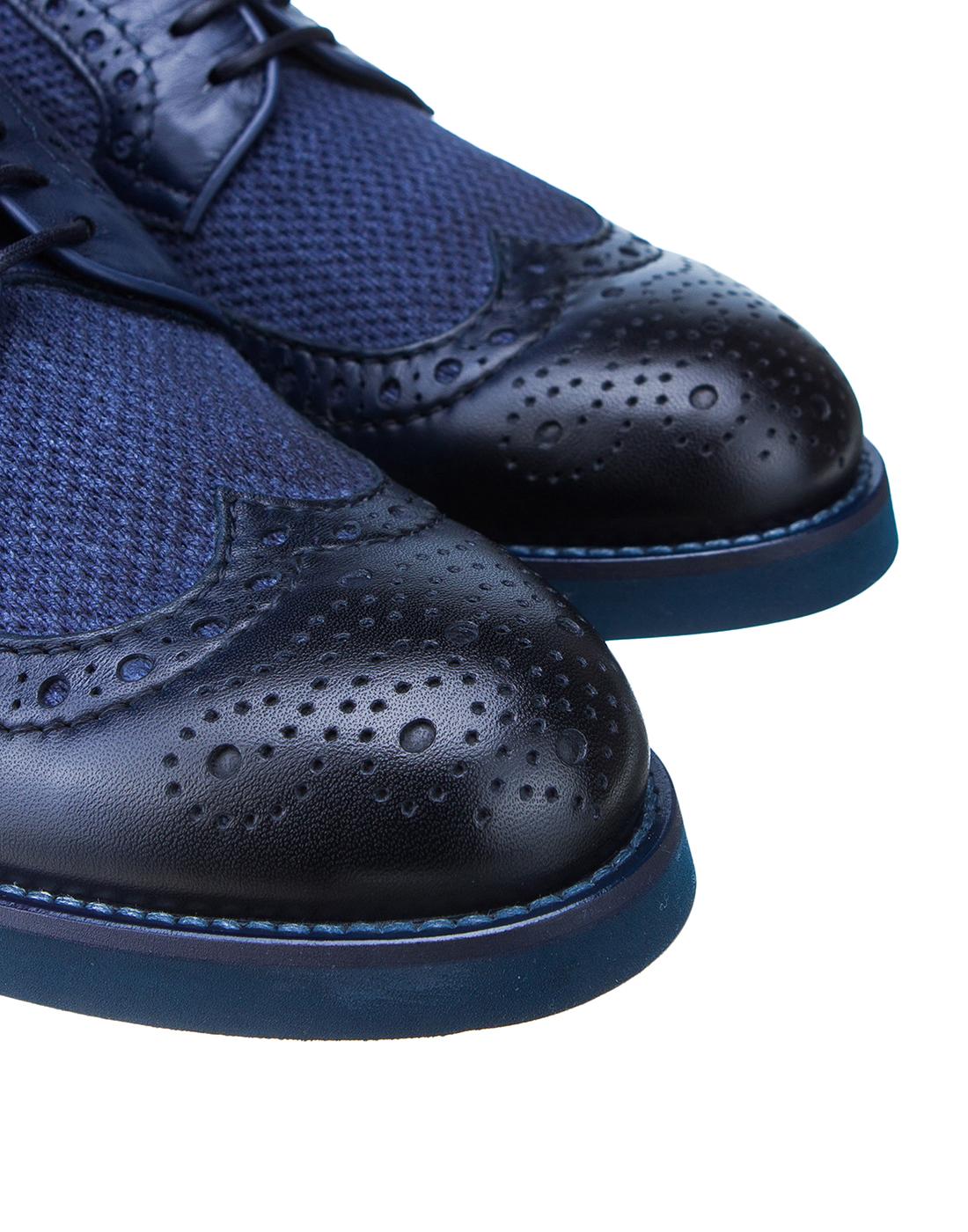 Броги синие мужские  Doucal's SDU1555POTERZ093BB02-4