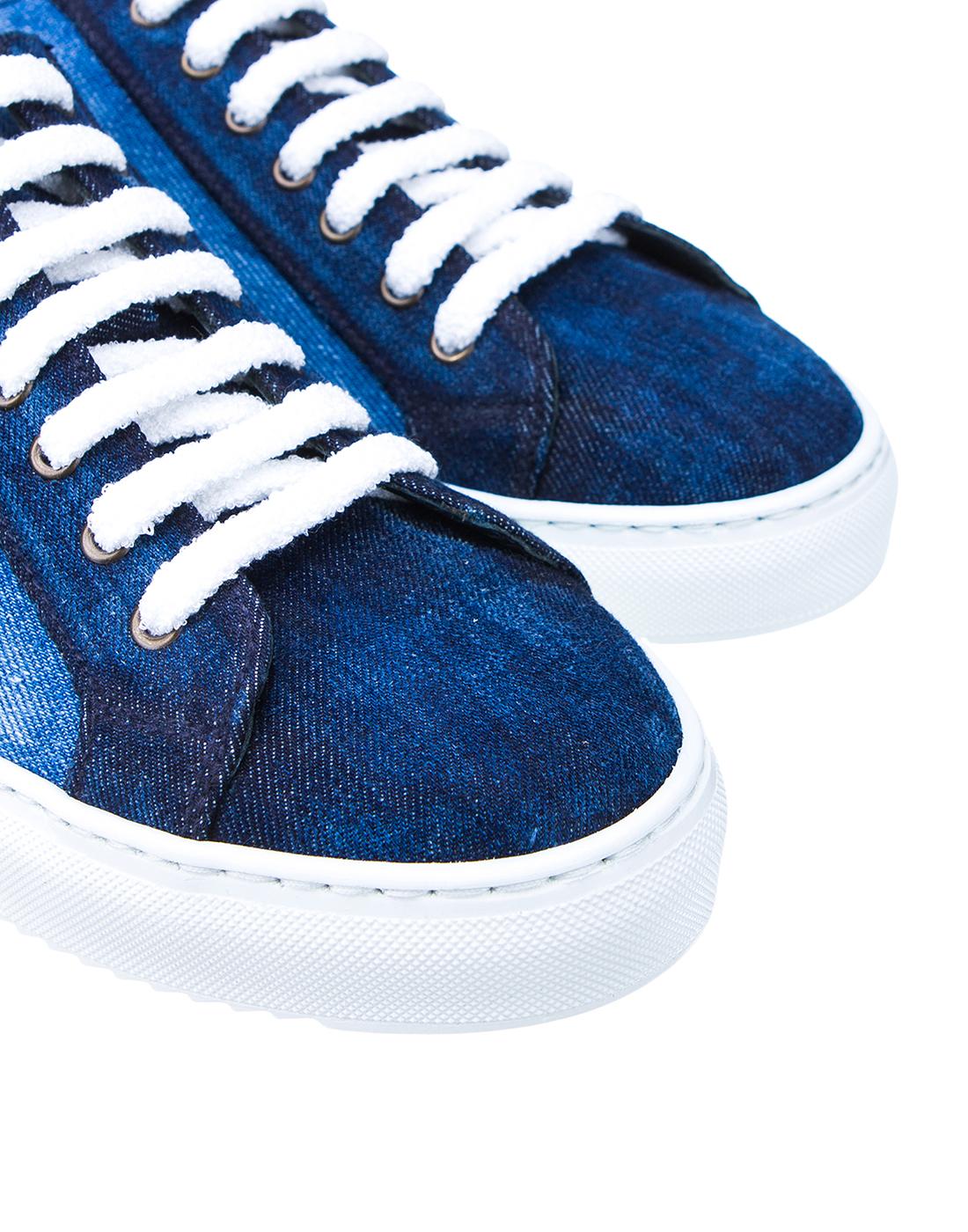 Кеды синие мужские