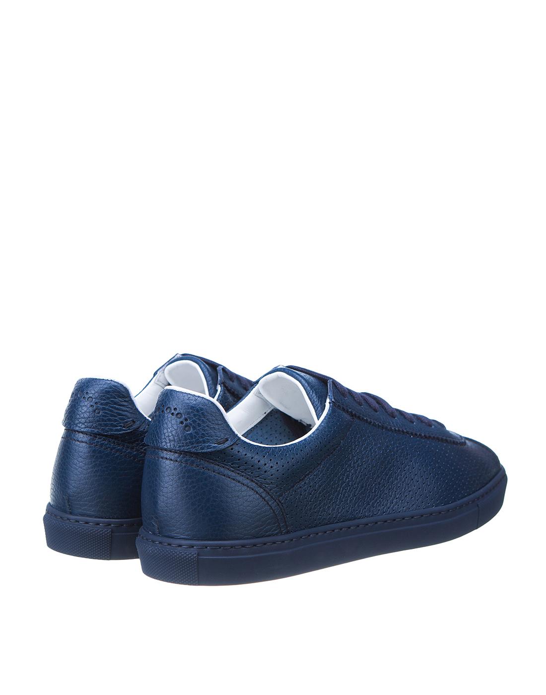 Кеды синие мужские перфорированные  Doucal's SDU2650MANAUZ109BB00-3