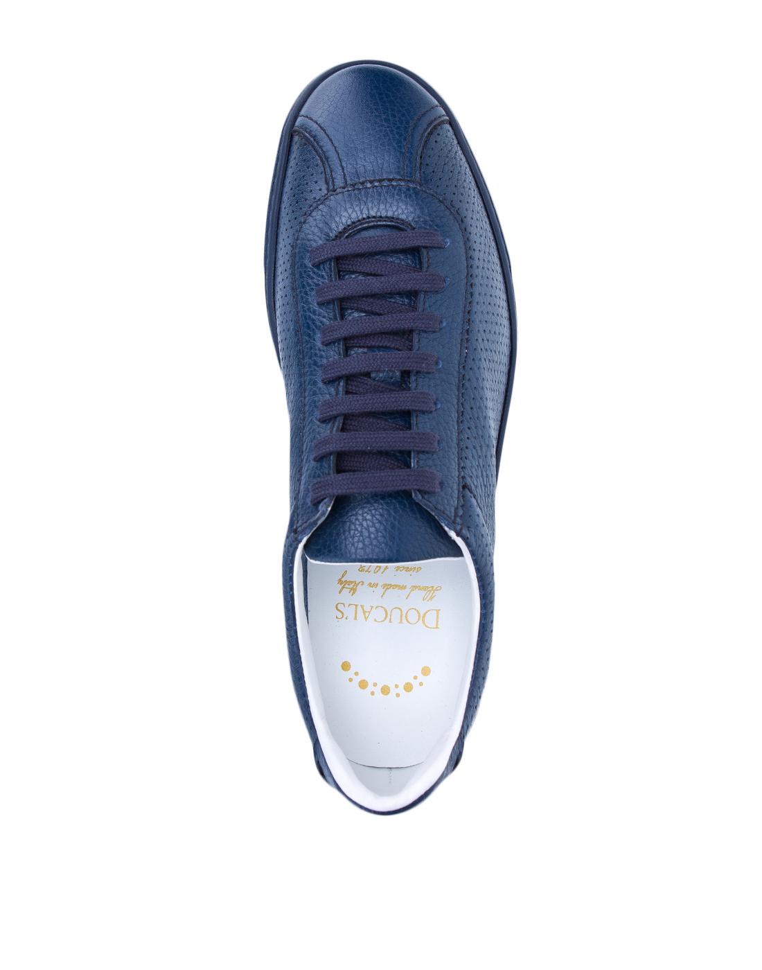 Кеды синие мужские перфорированные  Doucal's SDU2650MANAUZ109BB00-5