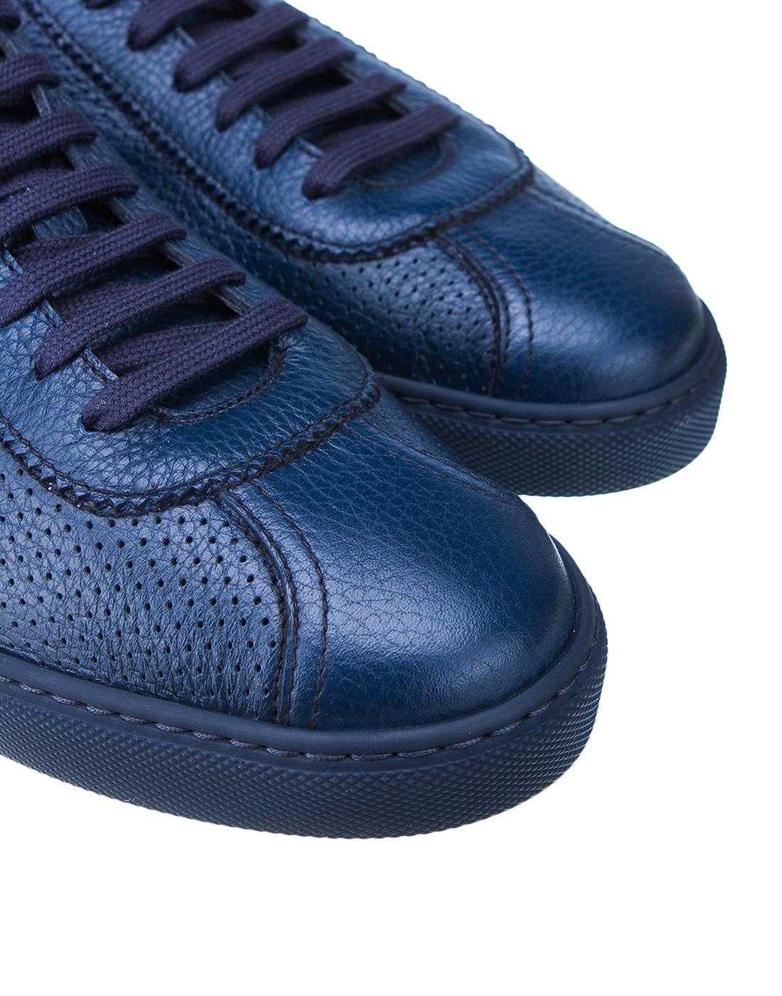 Кеды синие мужские перфорированные  Doucal's SDU2650MANAUZ109BB00-4