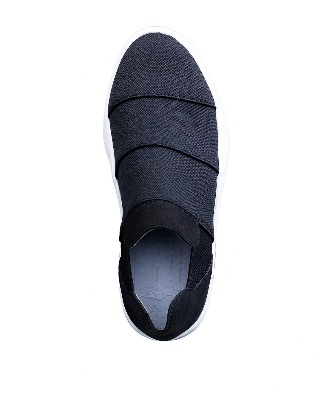 Кроссовки черные женские  FESSURA SSHA019 BLACK-5