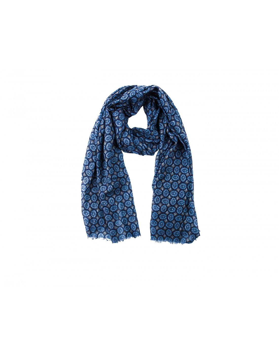 Шарф голубой мужской Lardini SIGSC65 IG51193-1