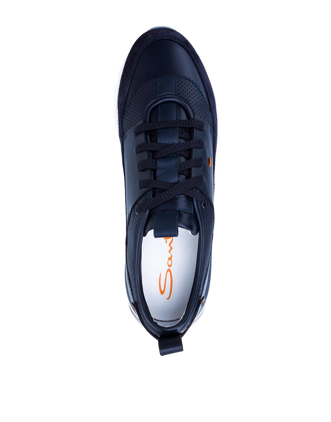 Кроссовки черные мужские Santoni SMBIO21274BGRXJUMU60-5