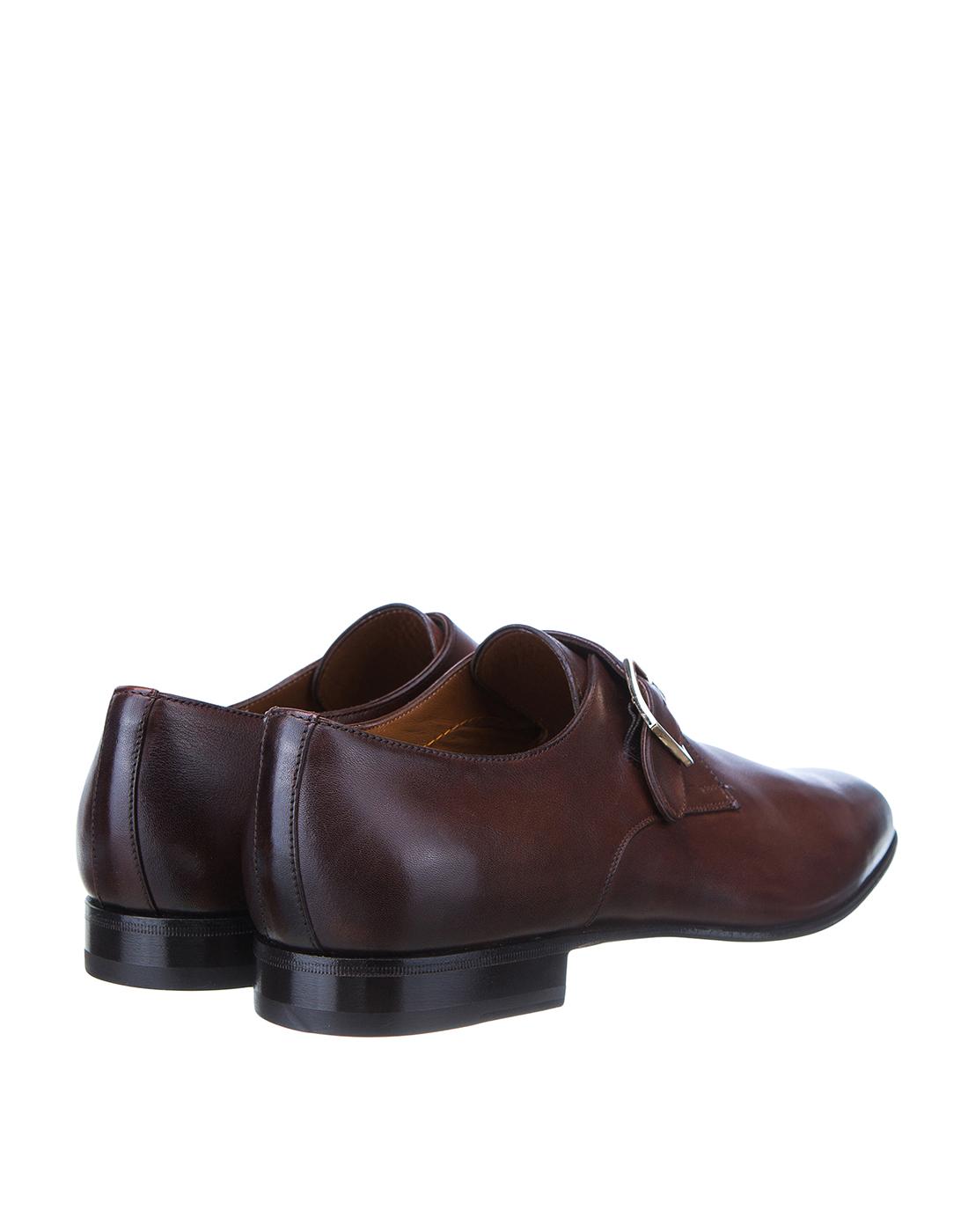 Туфли коричневые мужские Santoni SMCKE16478LA1NGTQM48-3