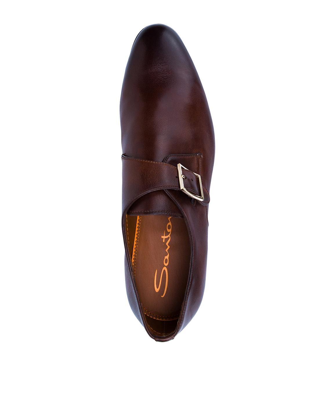 Туфли коричневые мужские Santoni SMCKE16478LA1NGTQM48-5