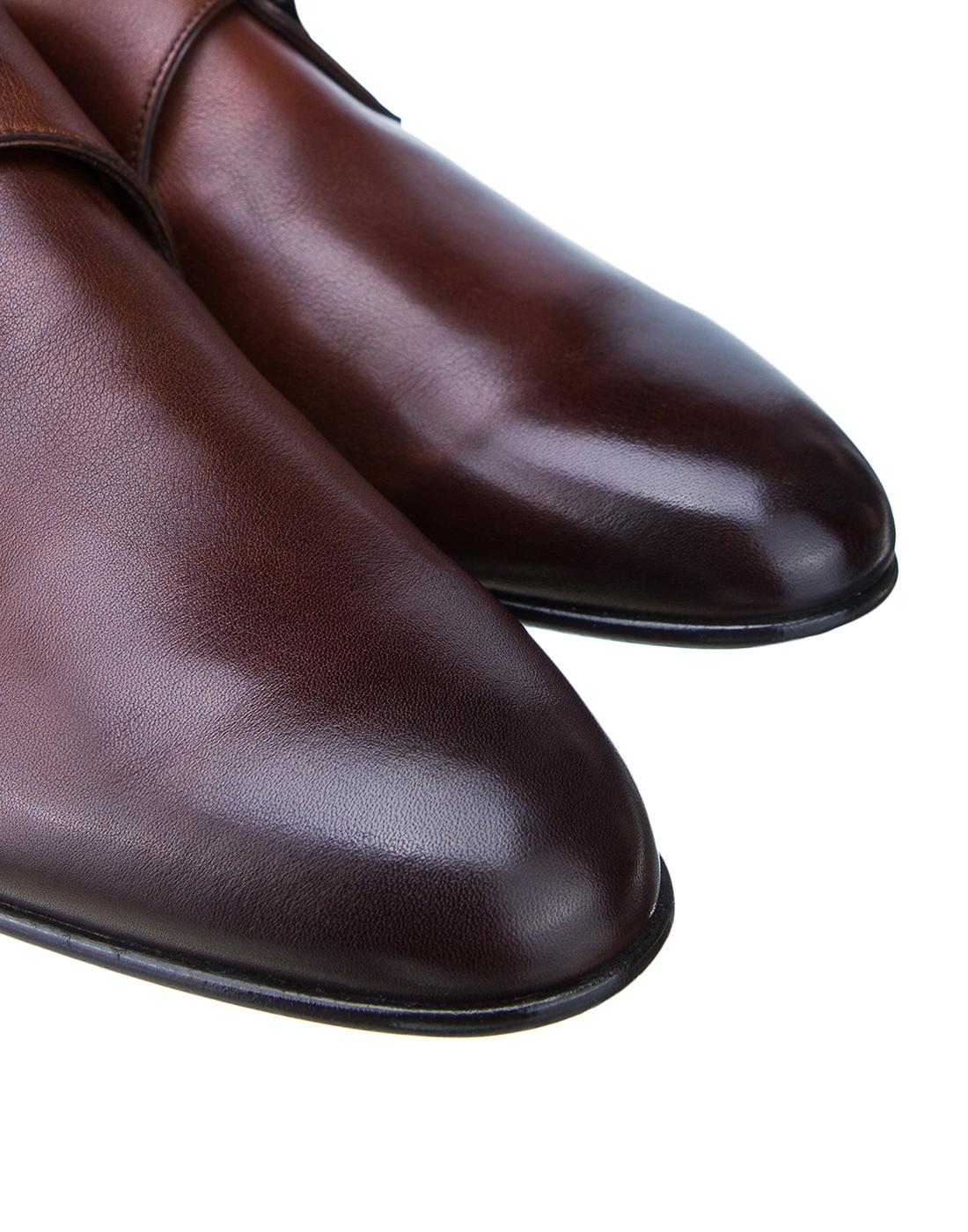 Туфли коричневые мужские Santoni SMCKE16478LA1NGTQM48-4