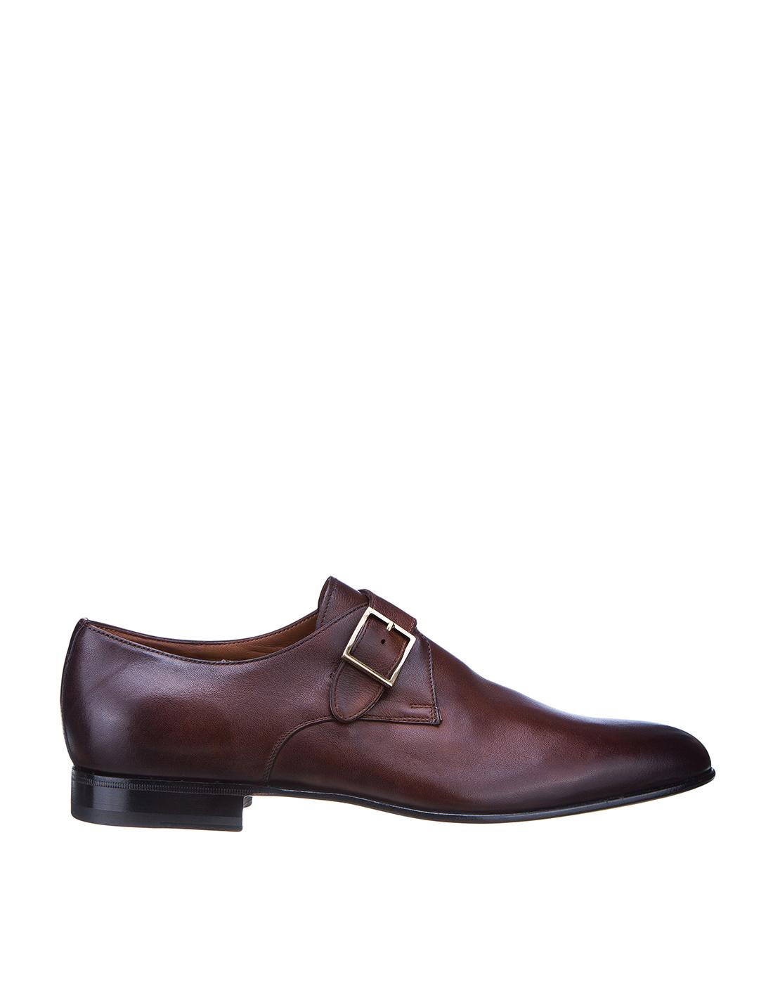 Туфли коричневые мужские Santoni SMCKE16478LA1NGTQM48-1