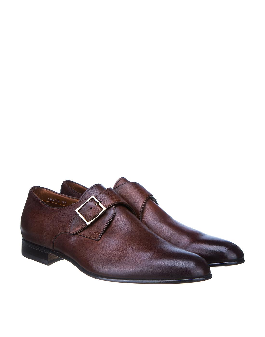 Туфли коричневые мужские Santoni SMCKE16478LA1NGTQM48-2