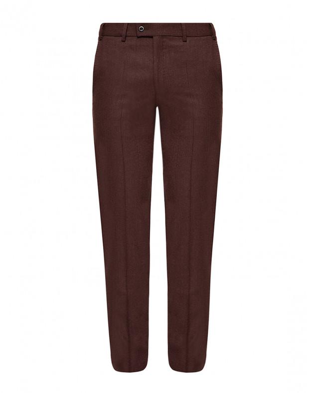 Мужские бордовые шерстяные брюки