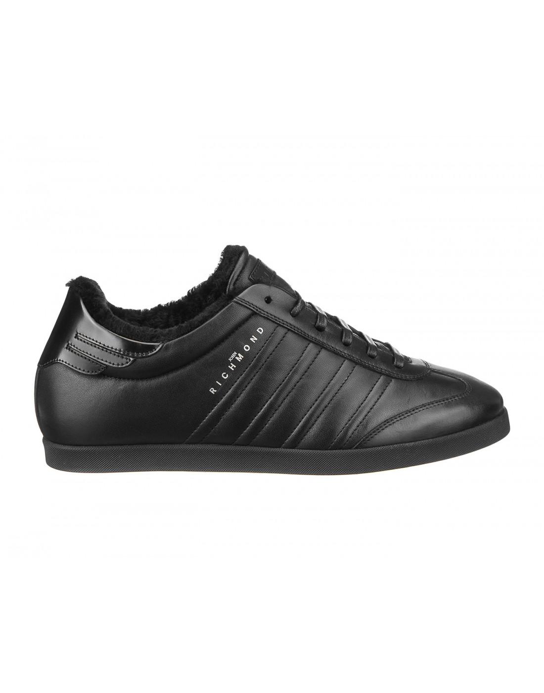 Кроссовки черные мужские John Richmond S8147/M VAR B-1