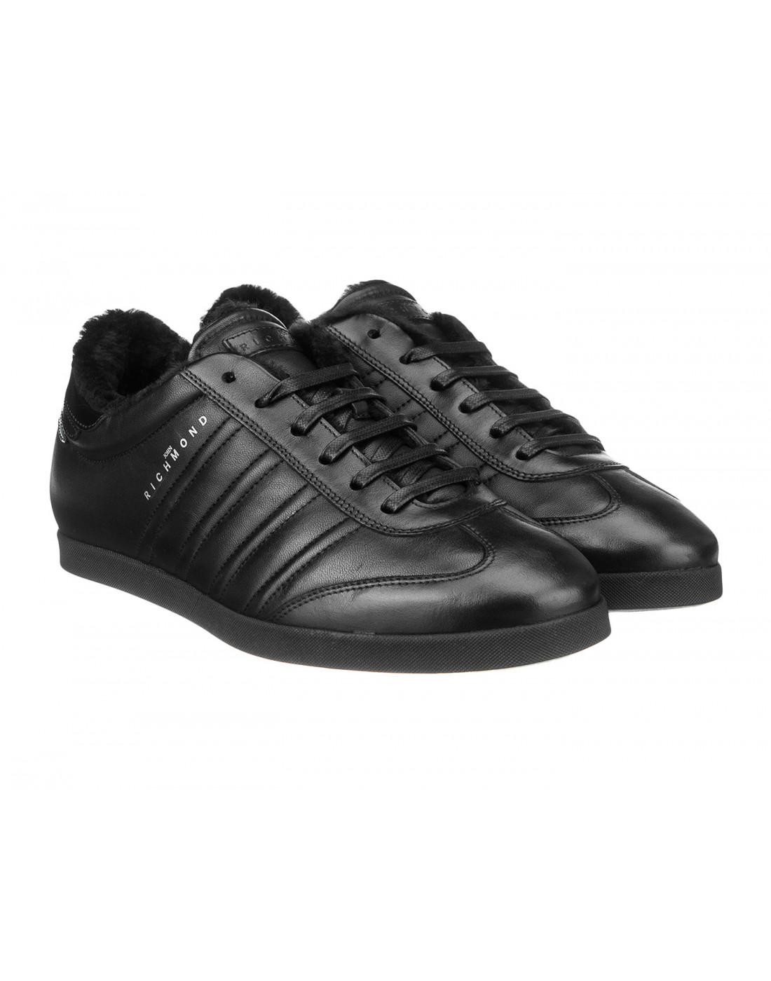Кроссовки черные мужские John Richmond S8147/M VAR B-2