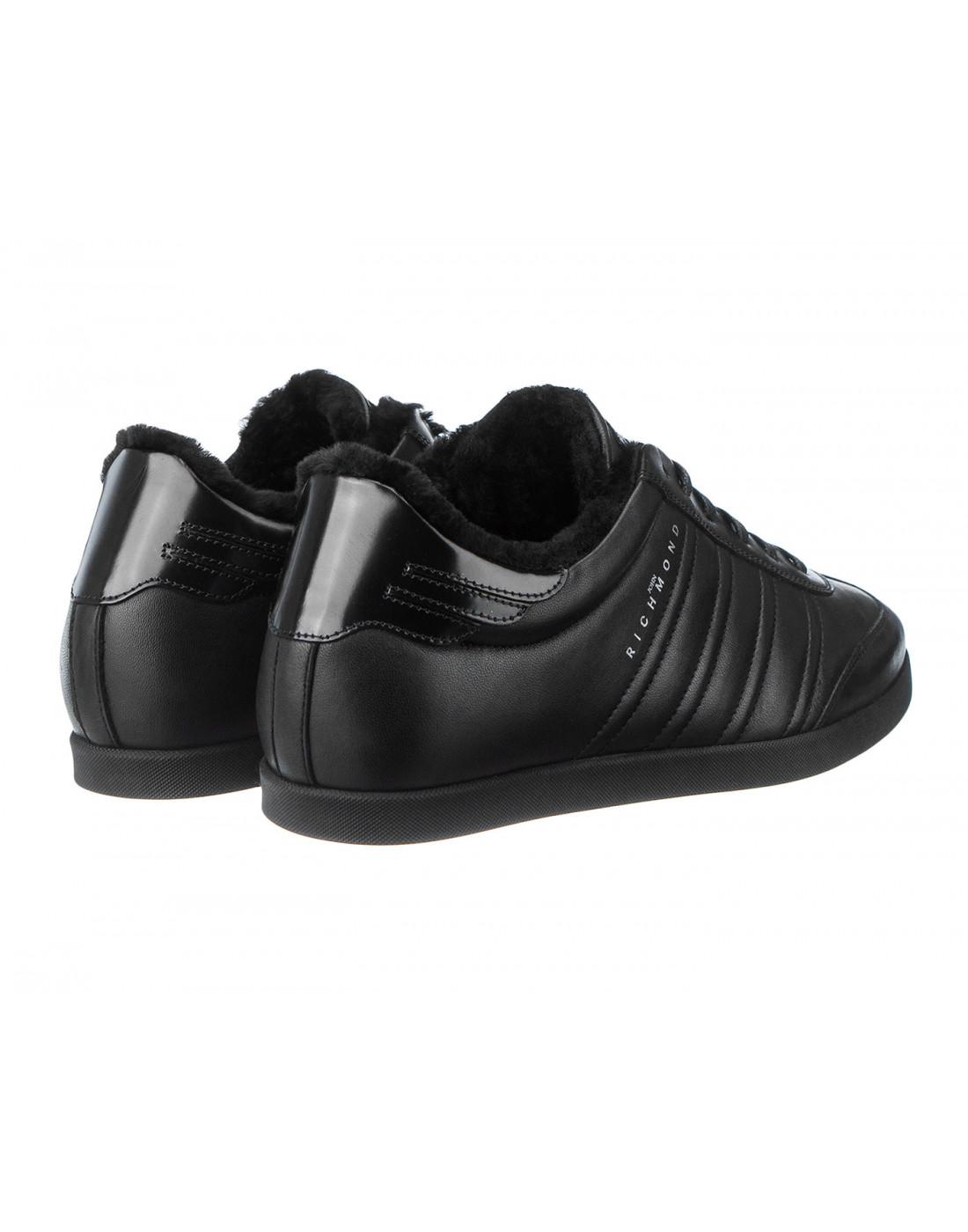 Кроссовки черные мужские John Richmond S8147/M VAR B-3