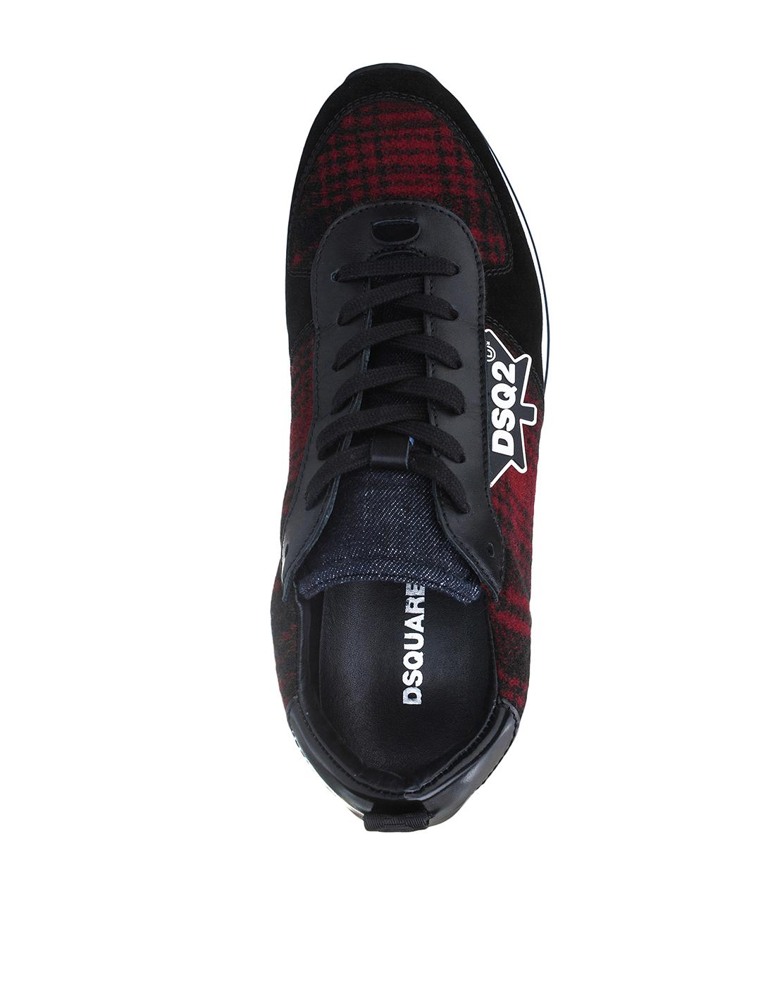 Кроссовки черные мужские Dsquared2 SSNM0110 M1331-5