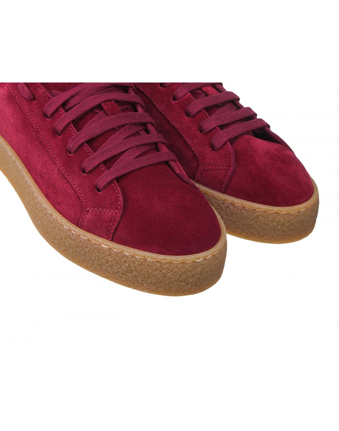 Кроссовки красные женские