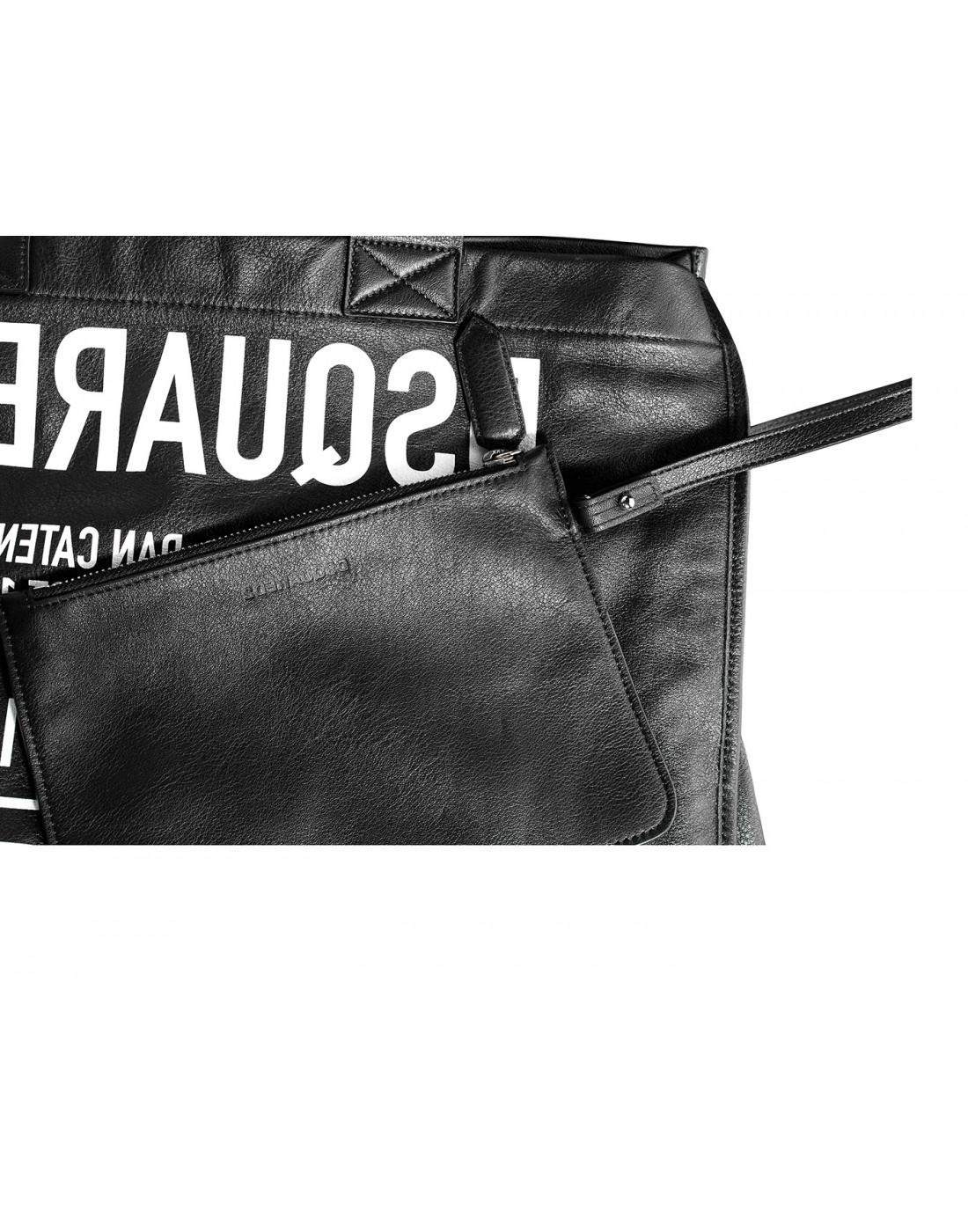 Сумка-шопер черная женская Dsquared2 SSPW0022.M063-4