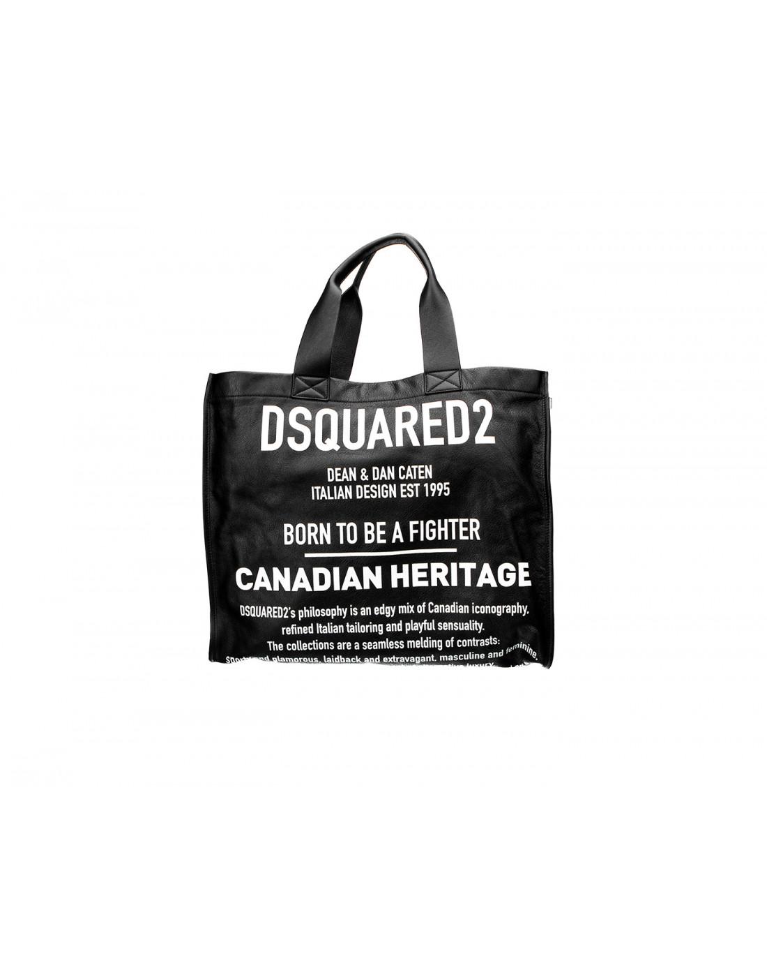 Сумка-шопер черная женская Dsquared2 SSPW0022.M063-1
