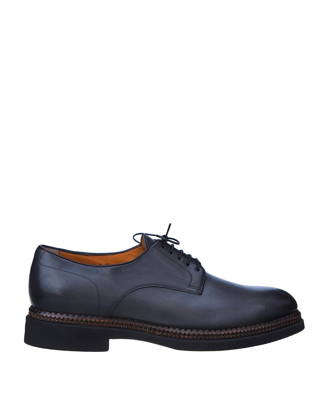 Туфли серые мужские Santoni S16351-1