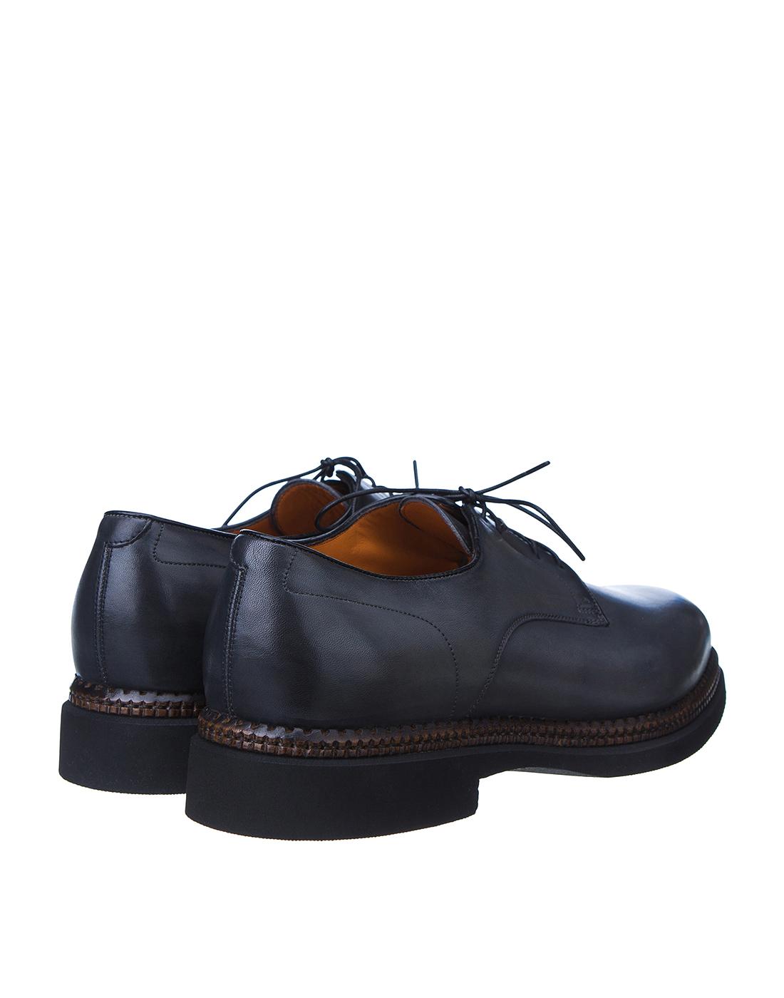 Туфли серые мужские Santoni S16351-3