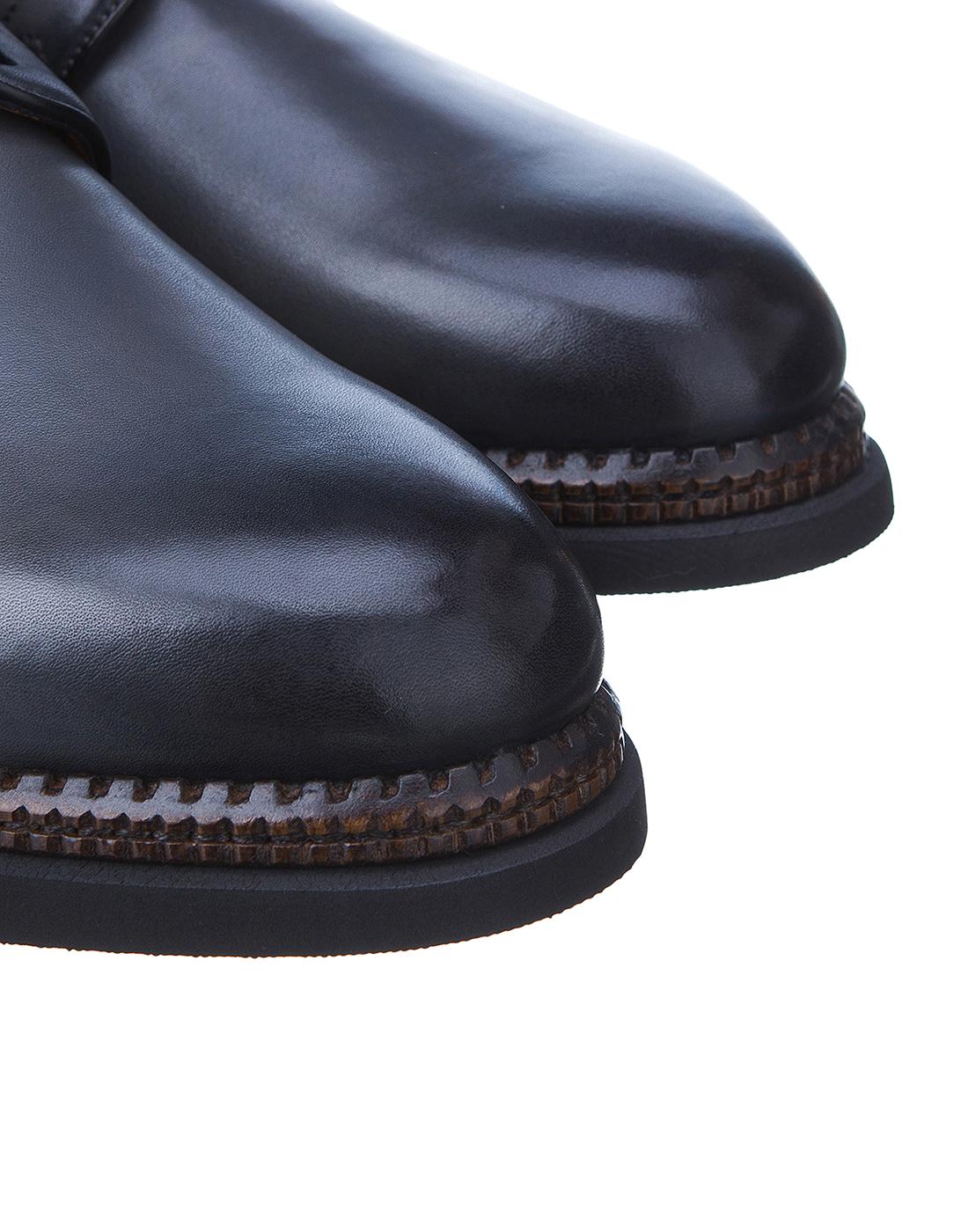 Туфли серые мужские Santoni S16351-4