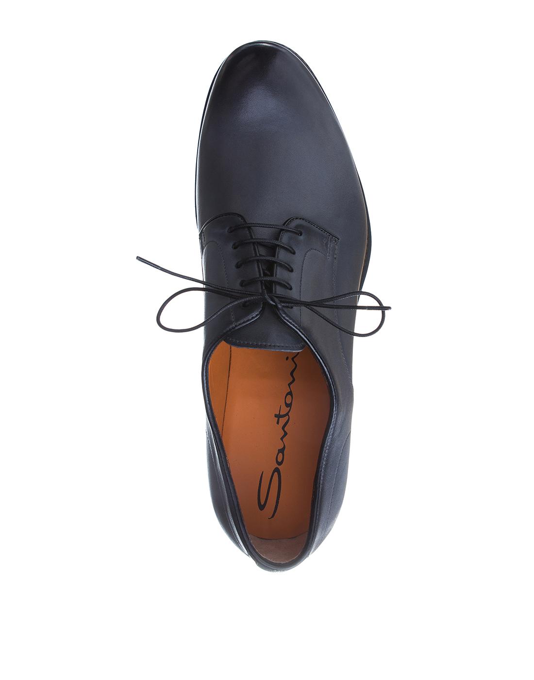 Туфли серые мужские Santoni S16351-5