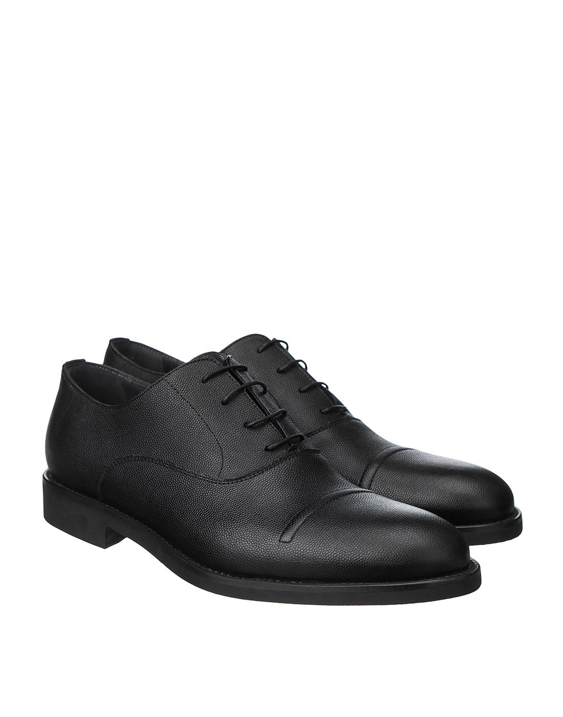 Туфли черные мужские Moreschi S42778-2