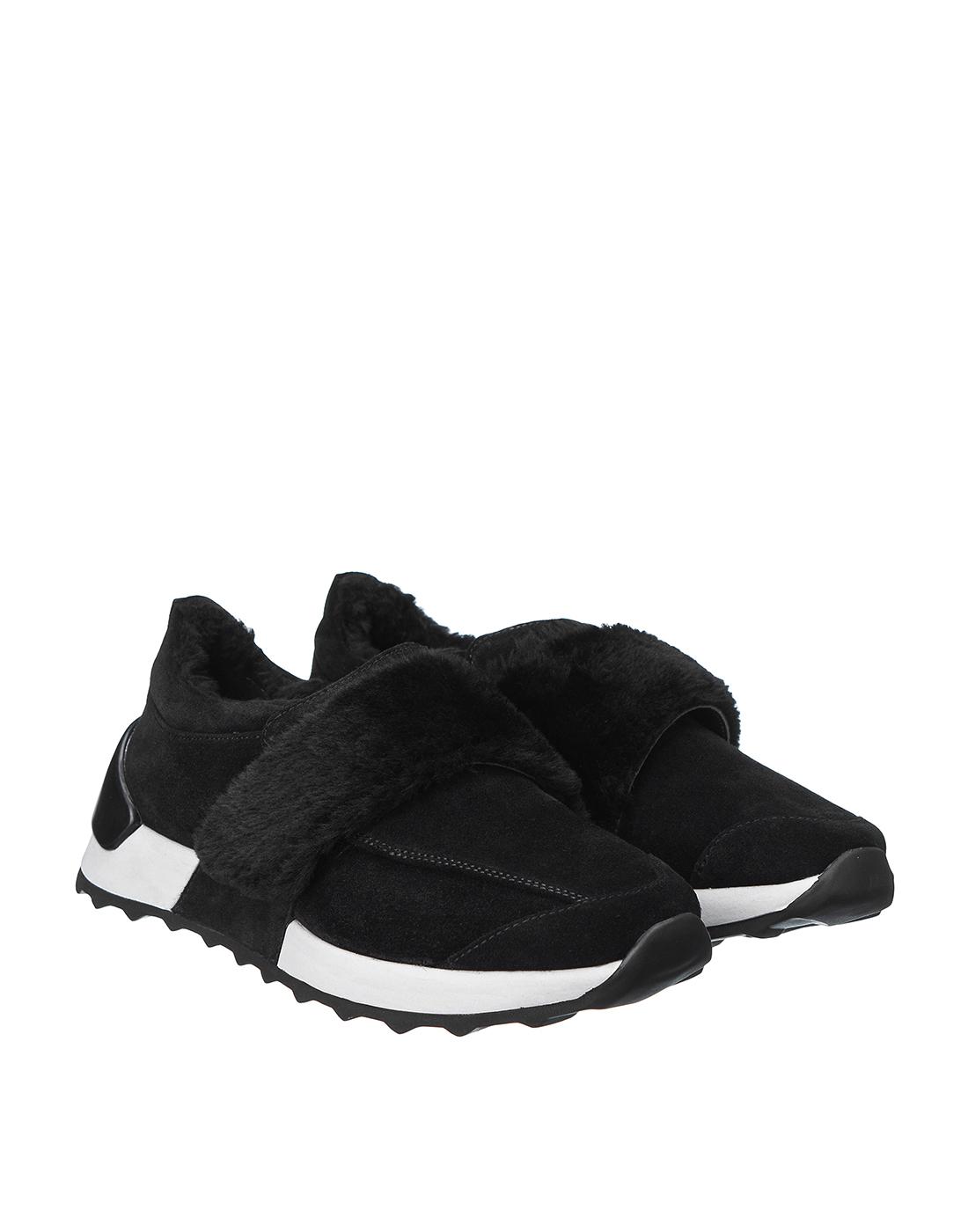 Кроссовки черные женские  A.Guardiani S61421-SF00-2