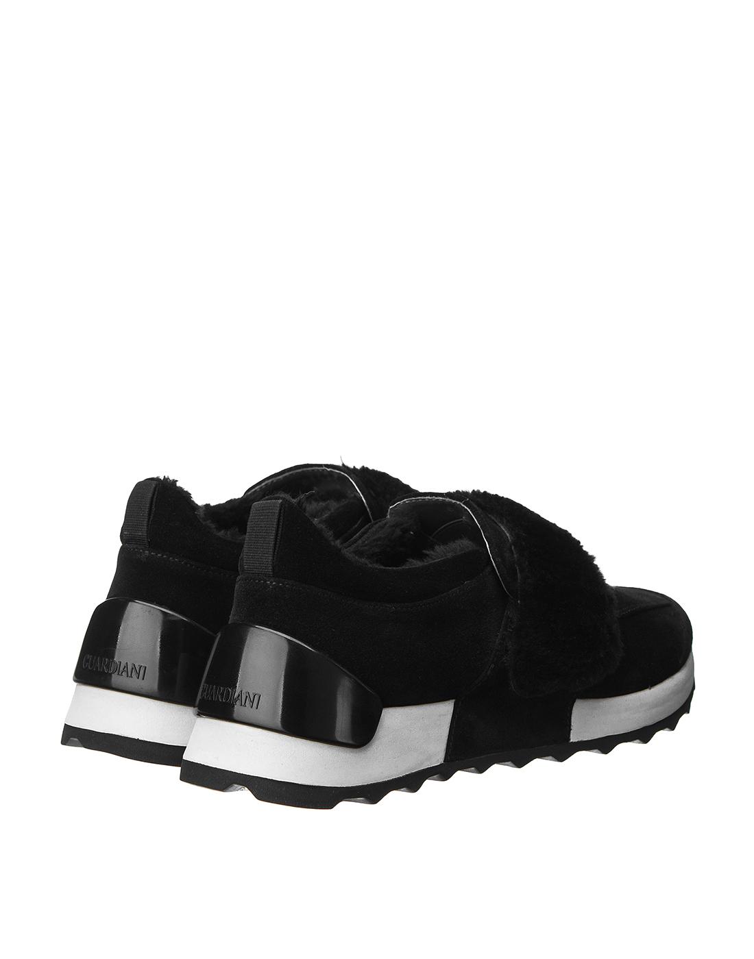 Кроссовки черные женские  A.Guardiani S61421-SF00-3