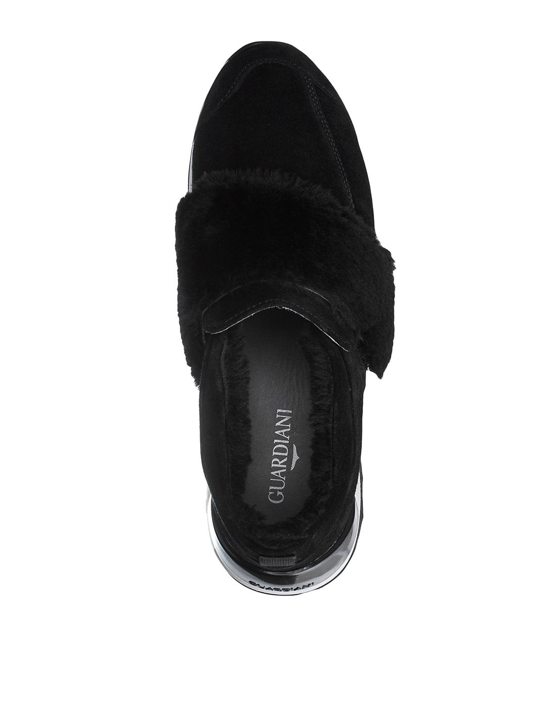 Кроссовки черные женские  A.Guardiani S61421-SF00-5