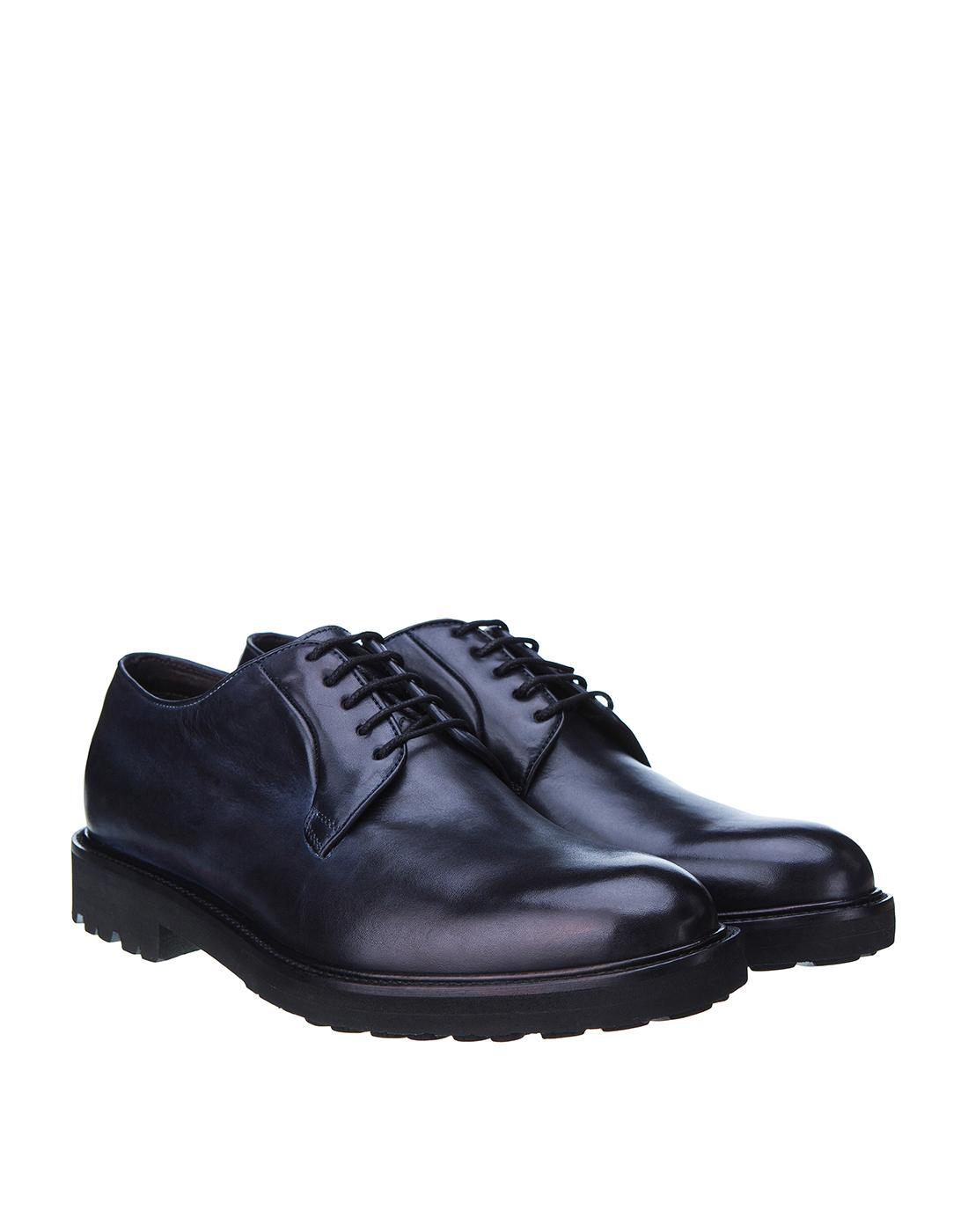 Туфли синие мужские Brecos S8066-2