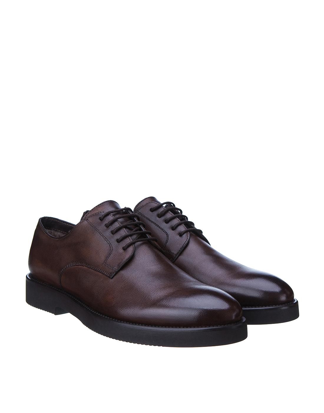Туфли коричневые мужские Brecos S8109-2