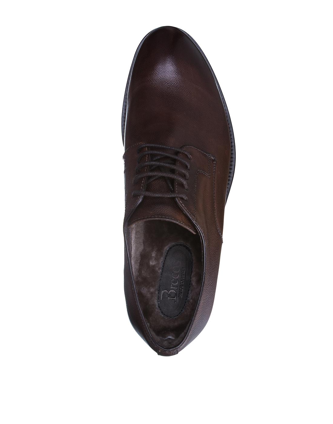 Туфли коричневые мужские Brecos S8109-5