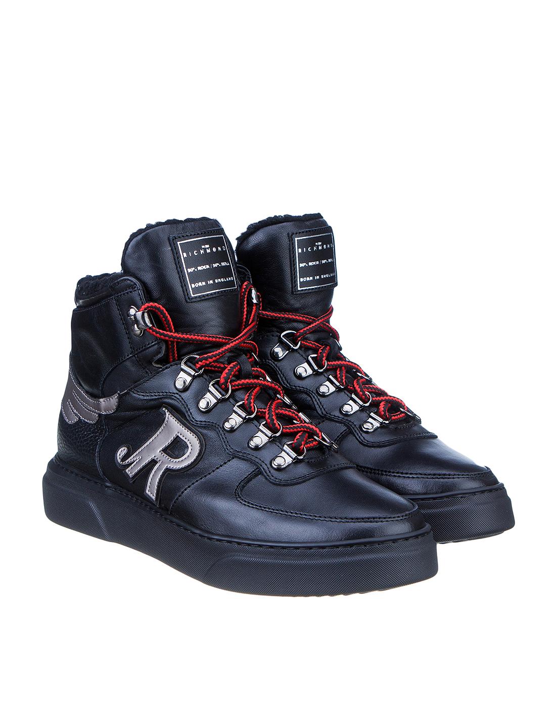 Кроссовки черные мужские John Richmond S8125 VAR A-2