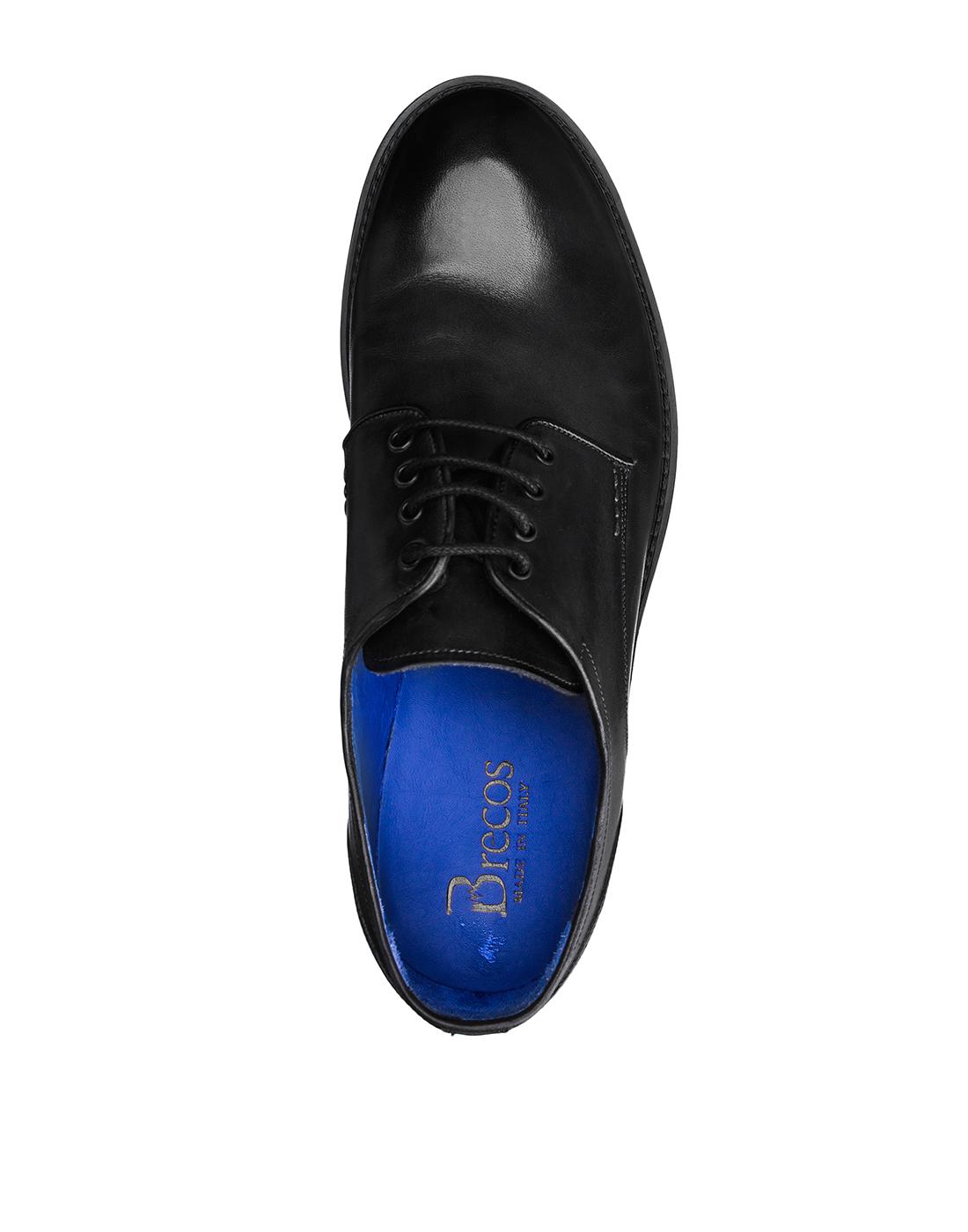 Туфли серые мужские Brecos S8133-5