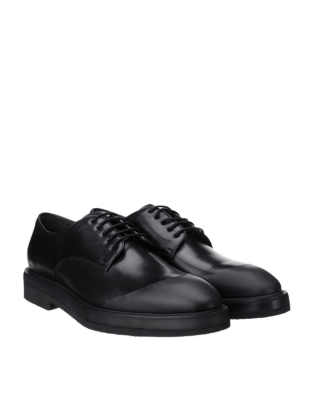 Туфли черные мужские Brecos S8192-2