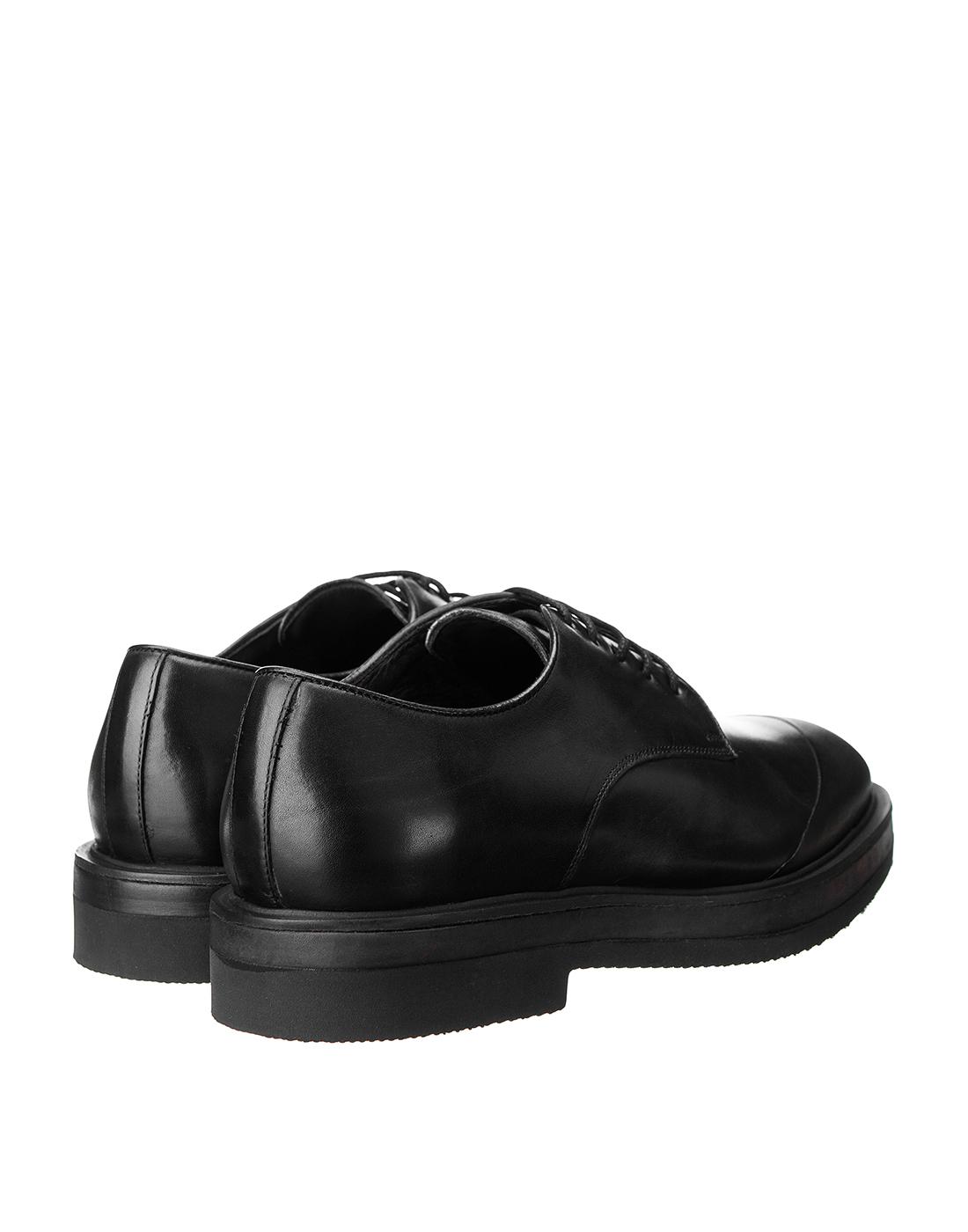 Туфли черные мужские Brecos S8192-3