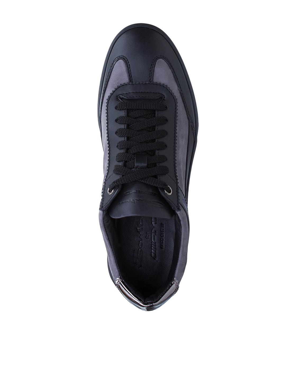 Кроссовки серые мужские Santoni SMSAM21201NEORSFYG62-5