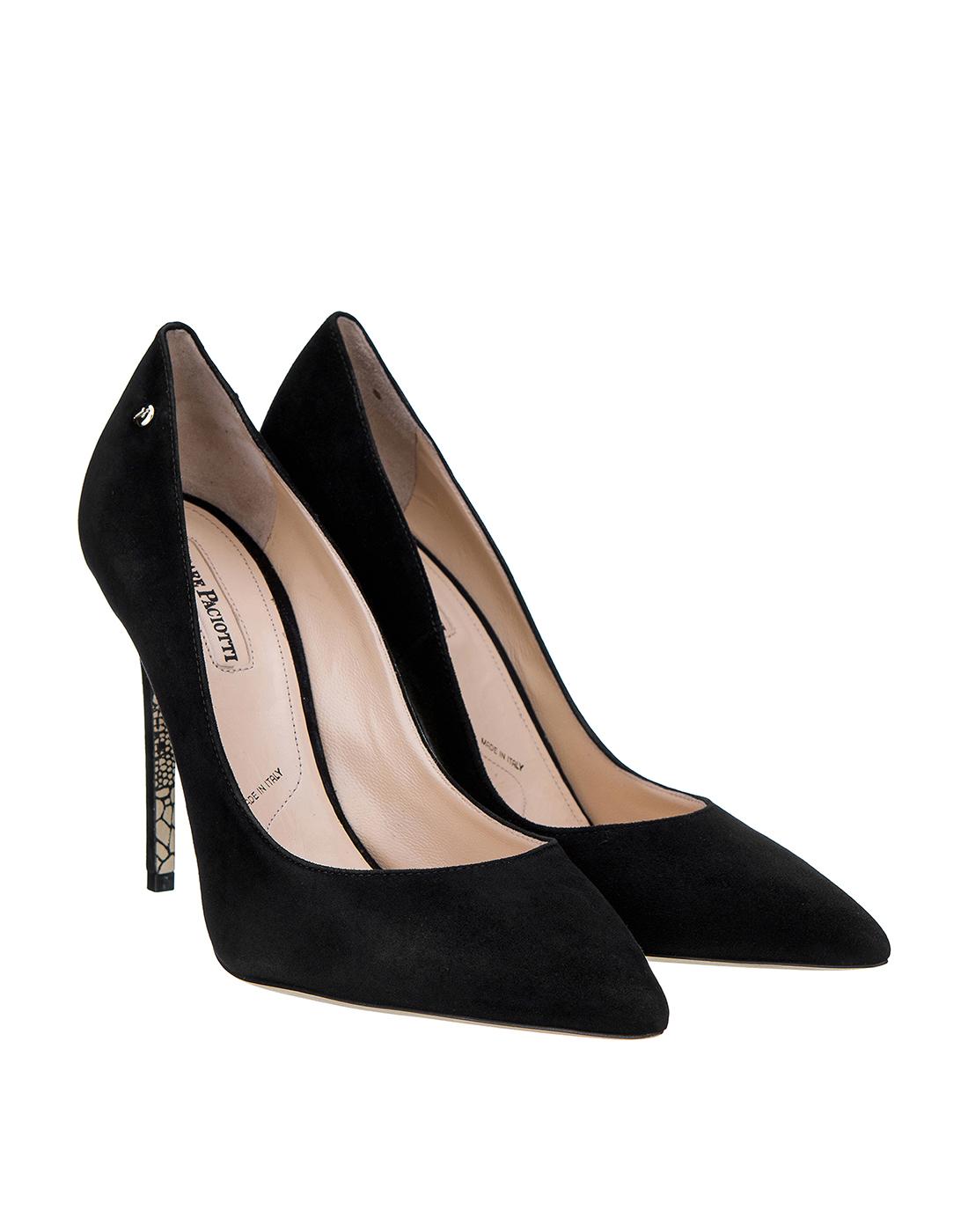 Туфли черные женские Cesare Paciotti S502715 999-2