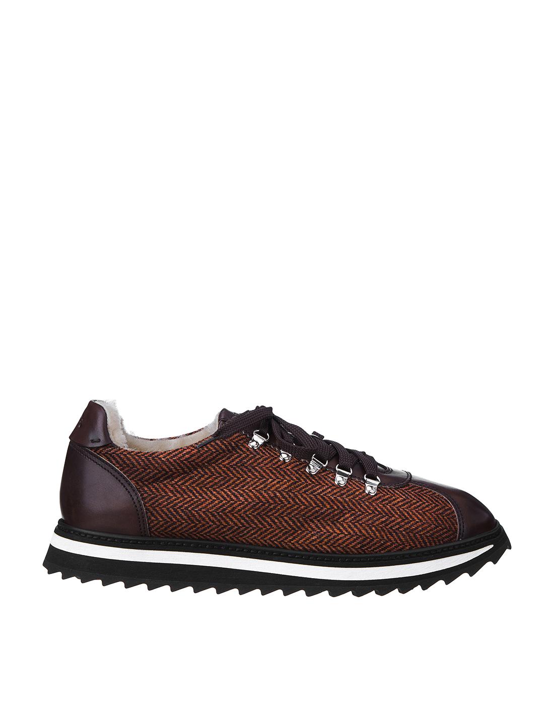 Кроссовки коричневые мужские Doucal's SU2156 03-1