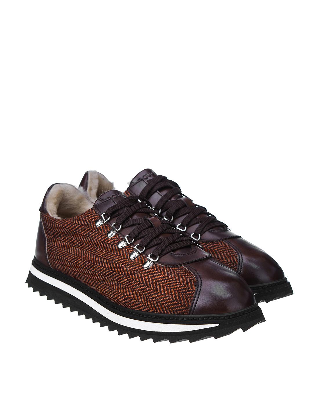 Кроссовки коричневые мужские Doucal's SU2156 03-2