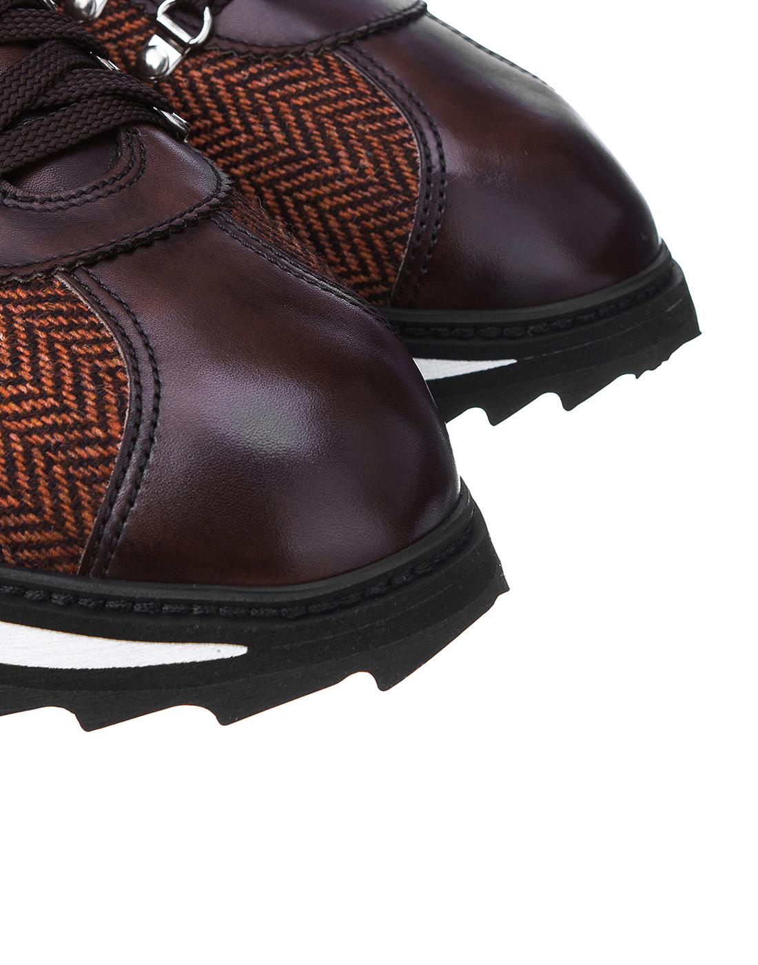 Кроссовки коричневые мужские Doucal's SU2156 03-4